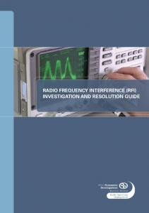 RADIO FREQUENCY INTERFERENCE (RFI) INVESTIGATION AND RESOLUTION GUIDE