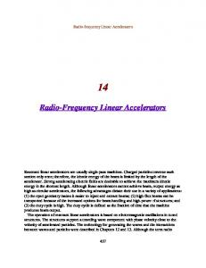 Radio-Frequency Linear Accelerators