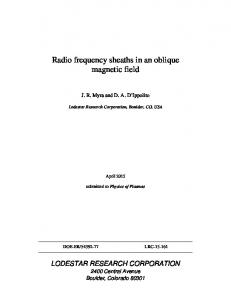 Radio frequency sheaths in an oblique magnetic field