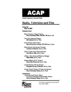 Radio, Television and Film