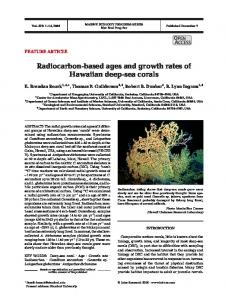 Radiocarbon-based ages and growth rates of Hawaiian deep-sea corals
