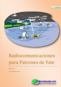 Radiocomunicaciones para Patrones de Yate