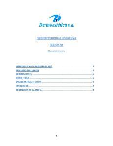 Radiofrecuencia Inductiva. 300 Mhz