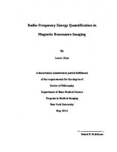 Radio'Frequency Energy Quantification in. Magnetic Resonance Imaging