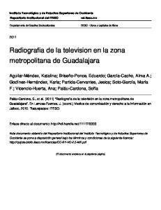 Radiografia de la television en la zona metropolitana de Guadalajara