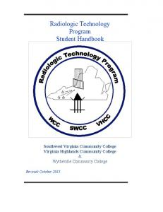Radiologic Technology Program Student Handbook
