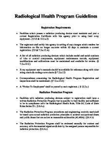 Radiological Health Program Guidelines