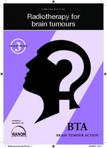 Radiotherapy for brain tumours