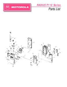 RADIUS P110 Series. Parts List