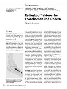 Radiuskopffrakturen bei Erwachsenen und Kindern