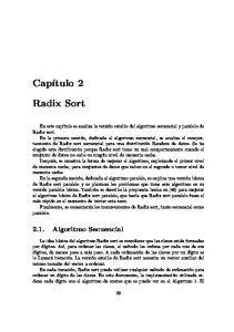 Radix Sort Algoritmo Secuencial