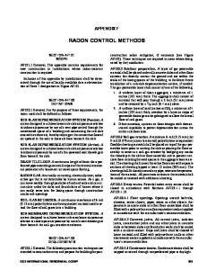 RADON CONTROL METHODS