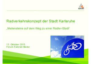 Radverkehrskonzept der Stadt Karlsruhe
