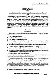 RADY MIASTA OPOLA z dnia. w sprawie uchwalenia miejscowego planu zagospodarowania przestrzennego Skansen w Opolu
