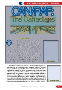 RAF: The Canadians in the Royal Air Force