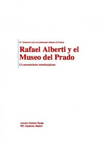 Rafael Alberti y el Museo del Prado