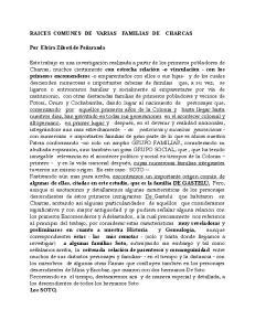 RAICES COMUNES DE VARIAS FAMILIAS DE CHARCAS