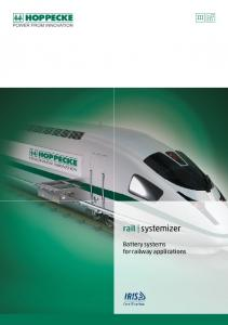 rail systemizer Battery systems for railway applications