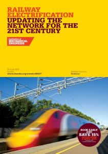 RAILWAY ELECTRIFICATION UPDATING THE NETWORK FOR THE 21ST CENTURY