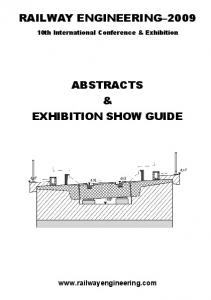 RAILWAY ENGINEERING 2009 ABSTRACTS & EXHIBITION SHOW GUIDE