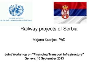 Railway projects of Serbia