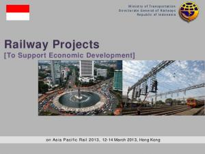 Railway Projects [To Support Economic Development]
