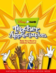 Raise Your Hand to Celebrate Teachers!