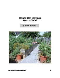 Raised Bed Gardens Kentucky GROW