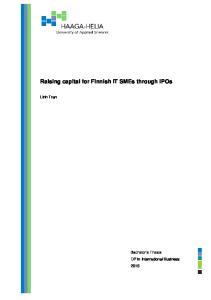 Raising capital for Finnish IT SMEs through IPOs. Linh Tran