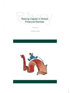 Raising Capital in Global Financial Markets