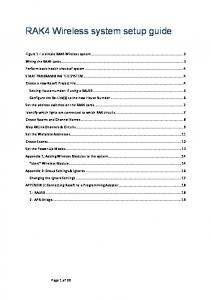 RAK4 Wireless system setup guide