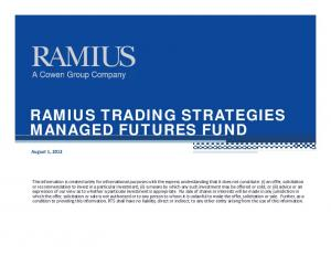 RAMIUS TRADING STRATEGIES MANAGED FUTURES FUND