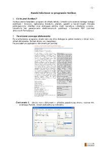 Ramki tekstowe w programie Scribus