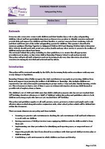 RAMRIDGE PRIMARY SCHOOL. Safeguarding Policy