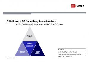 RAMS and LCC for railway infrastructure