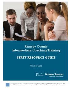 Ramsey County Intermediate Coaching Training