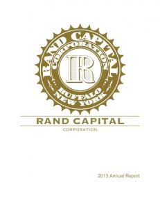 RAND CAPITAL CORPORATION Annual Report