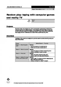 Random play: toying with computer games and reality TV