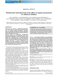 Randomized controlled trial of the effect of regular paracetamol on influenza infection