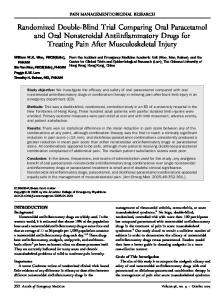 Randomized Double-Blind Trial Comparing Oral Paracetamol and Oral Nonsteroidal Antiinflammatory Drugs for Treating Pain After Musculoskeletal Injury