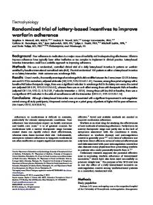 Randomized trial of lottery-based incentives to improve warfarin adherence