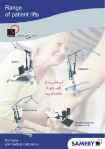 Range of patient lifts