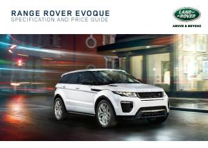RANGE ROVER EVOQUE SPECIFICATION AND PRICE GUIDE
