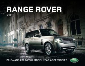 RANGE ROVER KIT and MOdEL YEaR accessories