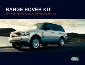 RANGE ROVER KIT VEHICLE PERSONALIZATION ACCESSORIES