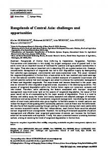 Rangelands of Central Asia: challenges and opportunities