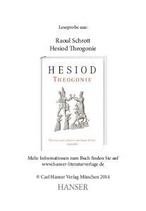 Raoul Schrott Hesiod Theogonie