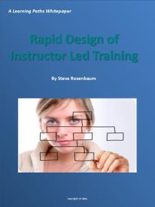 Rapid Design of Instructor Led Training