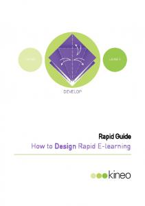 Rapid Guide. How to Design Rapid E-learning