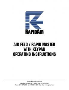 rapid master with keypad operating instructions